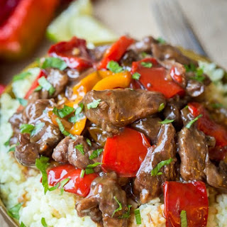 Spicy Slow Cooker Beef & Bell Pepper Recipe