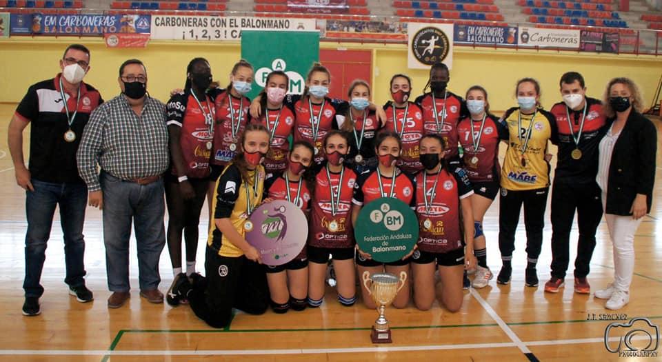 El equipo cadete femenino.