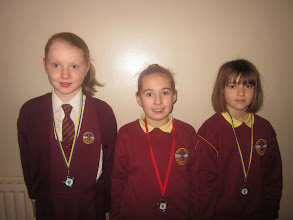 Photo: Under 10's front crawl relay team who came first