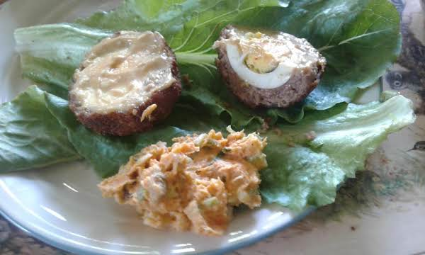 Scotch Egg With Sweet Potato Salad