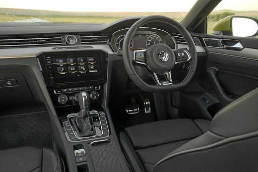 Up front, the interior is almost all Passat. Picture: QUICKPIC