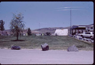 Photo: Upper Ross Park, PARC field day, we had a 40 meter beam (right) and two other antennas that are visible.  Pocatello Idaho  mid 80's