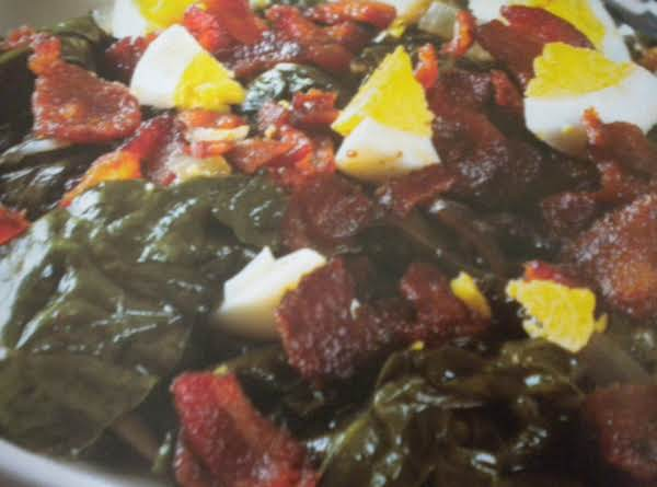 Wilted Greens With Sweet-and-sour Sauce