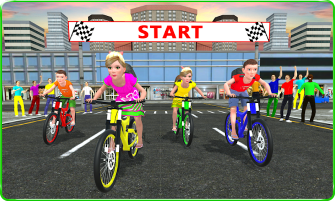 Kids School Time Bicycle Race Android 1