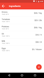 Food Cost Calculator - náhled