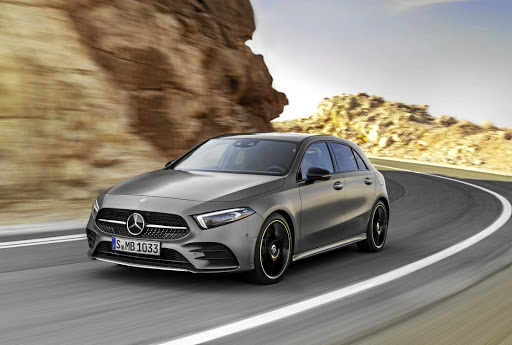 There's not a lot of coherence to the frontal design of the new A-Class