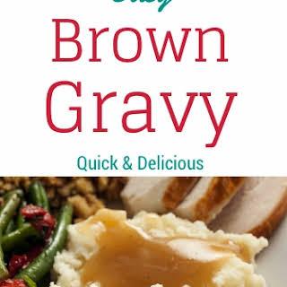 Easy Brown Gravy.