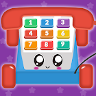 Baby Carphone Toy. Kids game icon