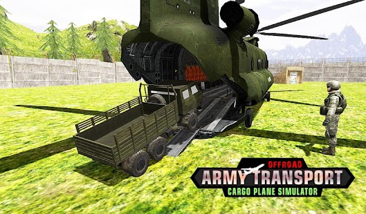 Offroad Army Transport Cargo Plane Simulator - náhled