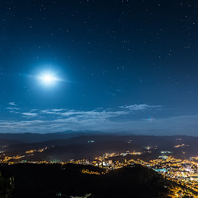 gabrovo night by Kiril Kolev - Landscapes Starscapes ( lights, sky, night photography, stars, long exposure, nightscapes, city )
