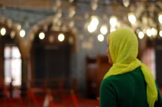 Photo: Erin at the Rustem Pasa Mosque