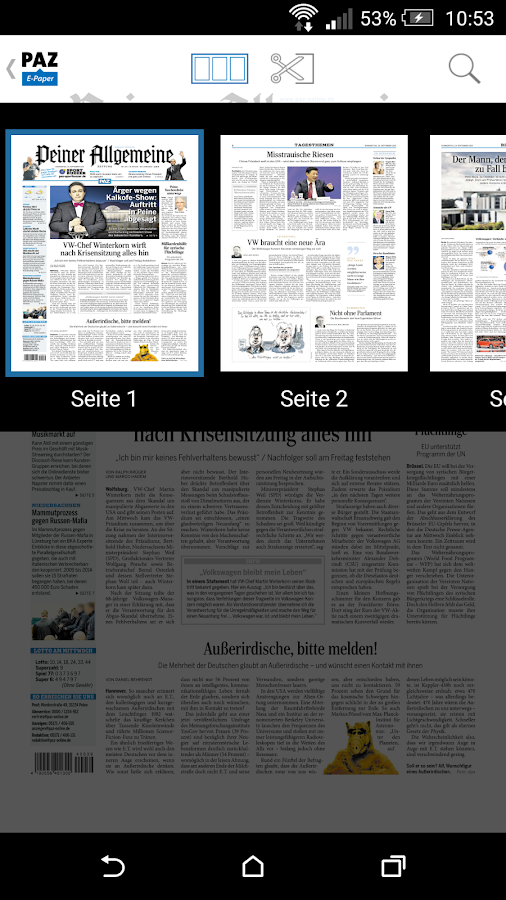 PAZ E-Paper- screenshot