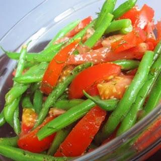 RecipeDilly Green Bean and Tomato Saalad