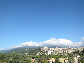 Photo: Arriving in Assisi