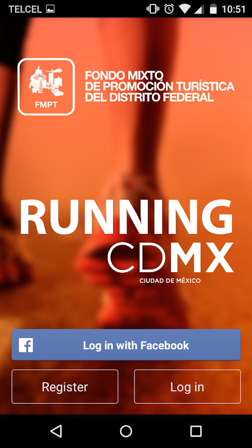 Running CDMX: captura de pantalla