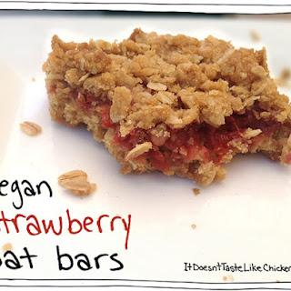 Vegan Strawberry Oat Bars.