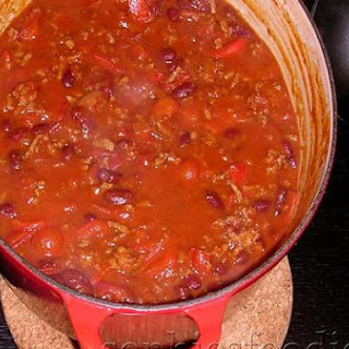 Chili Con Carne With Home Made Cornbread Served With Yoghurt