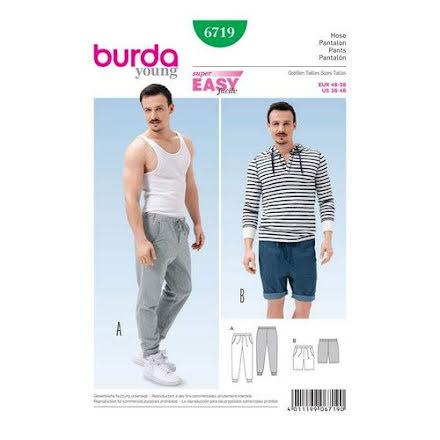 Burda 6719, shorts och träningsbyxa för herr