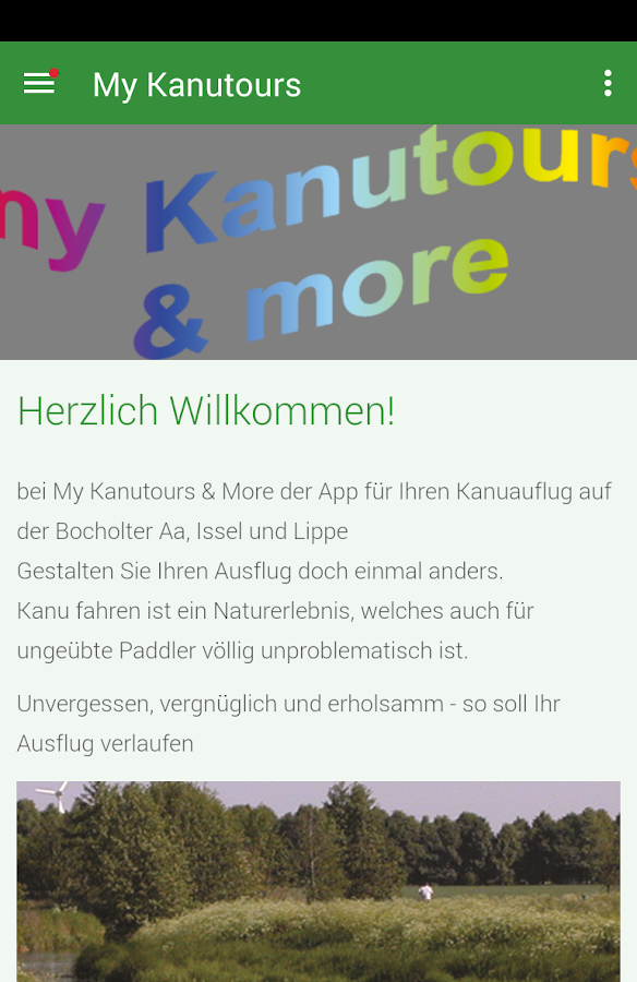 My Kanutours – Screenshot
