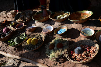 Photo: All the natural dyes
