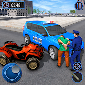 US Police Hummer Car Quad Bike Police Chase Game