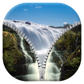 Waterfall Zipper Lock Screen