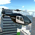 Police Helicopter City Flying icon