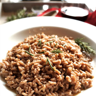 Red Wine Rosemary Risotto.