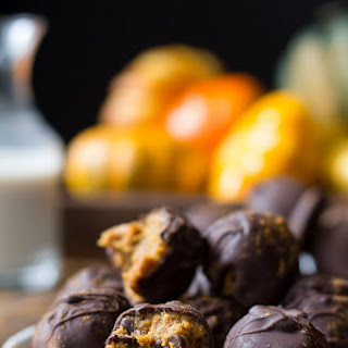 Pumpkin Chocolate Chip Cookie Dough Truffles {Paleo & Vegan}