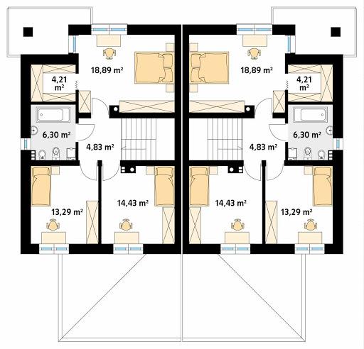 Karminowy - Rzut piętra