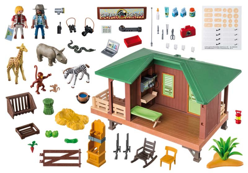 Contenido de Playmobil® 6936 Clínica Veterianaria de África