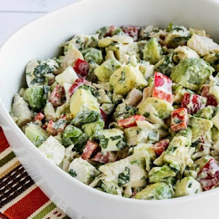 Low-Carb Rotisserie Chicken Christmas Salad with Avocado, Pepper, Feta and Lime Recipe