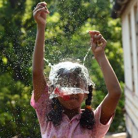 water cap by Mervin Anto - Babies & Children Children Candids ( action, pwcsummerfun )