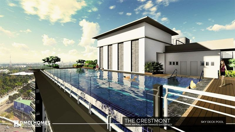 The Cresmont, Panay Avenue, Quezon City sky deck pool area