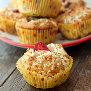 Healthy Banana Split Muffins.