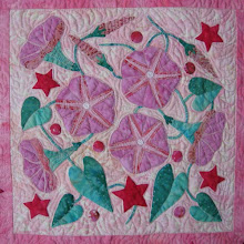 """Photo: Morning Glory block from """"Pink Petal Party"""" in my book, """"Applique Petal Party""""  by Susan Brubaker Knapp www.bluemoonriver.com"""