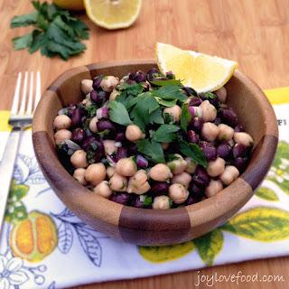 Two Bean Salad with Garlic Lemon Vinaigrette