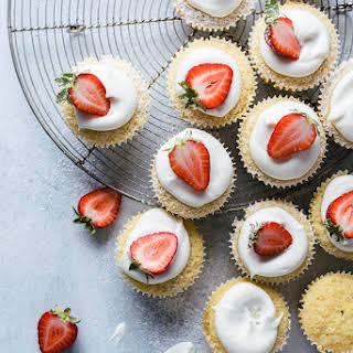 White Chocolate Lemon Cupcakes.