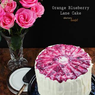 Orange Blueberry Lane Cake.