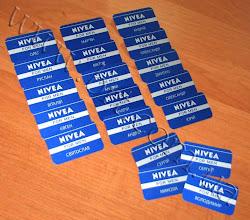 Photo: Именные бейджи для компании Нивея. Металл, полноцветная печать Гравертон