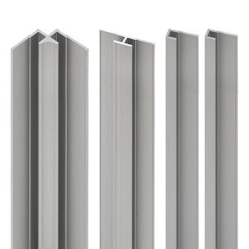 DecoDesign - Zubehör Profilset - Alu-Natur (01), Länge 2100 mm