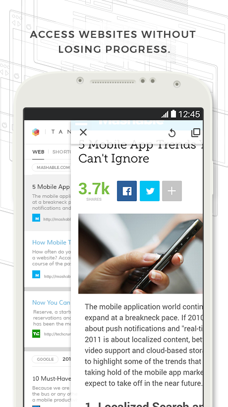 Tangram: Mobile Browser
