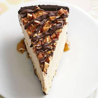 Frozen Peanut Butter Turtle Pie.