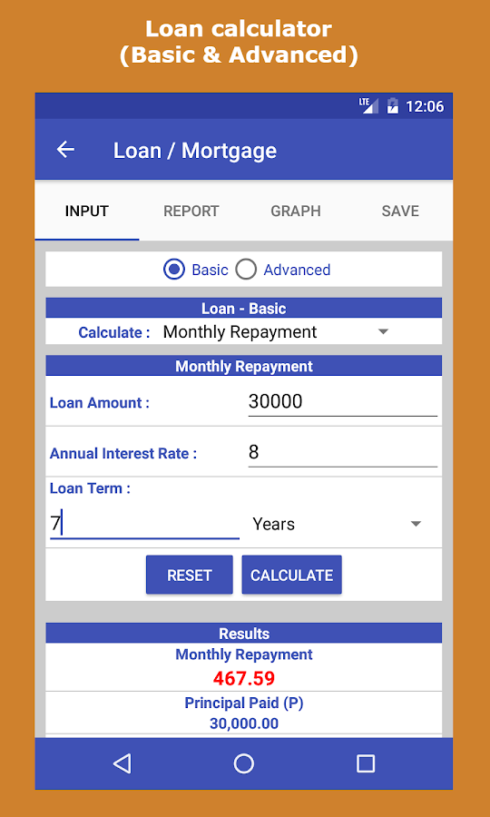 calculating loan interest