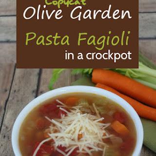 Pasta Fagioli Soup Crock Pot Recipes.