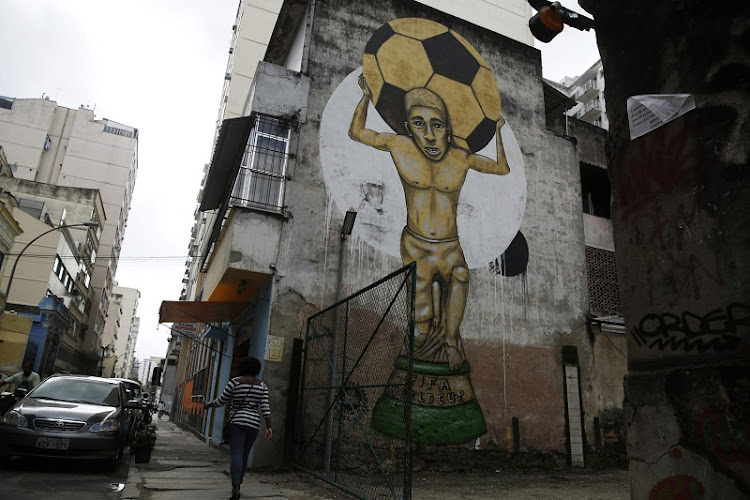 Graffiti is shown on a wall in Rio de Janeiro, Brazil. File photo: REUTERS
