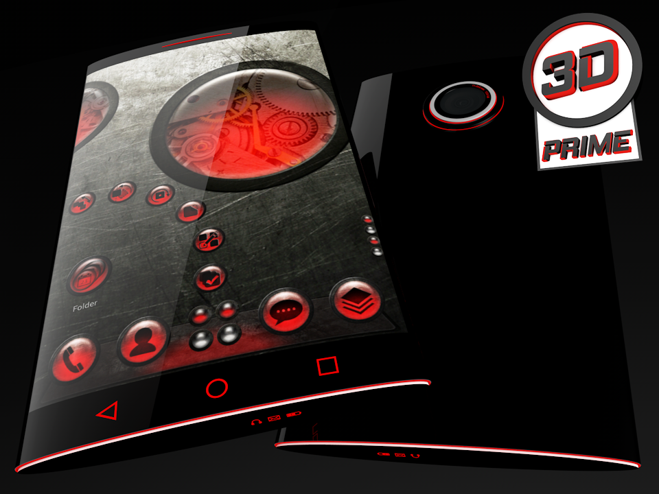 Steampunk Red theme for Next Launcher (Prime)- screenshot