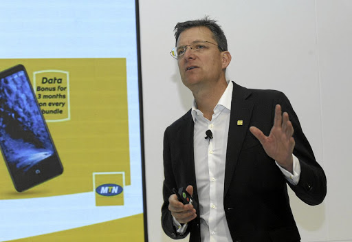 Costs must fall: MTN CEO Rob Shuter says that cellphone operators should lower entry-level data costs. Picture: FREDDY MAVUNDA