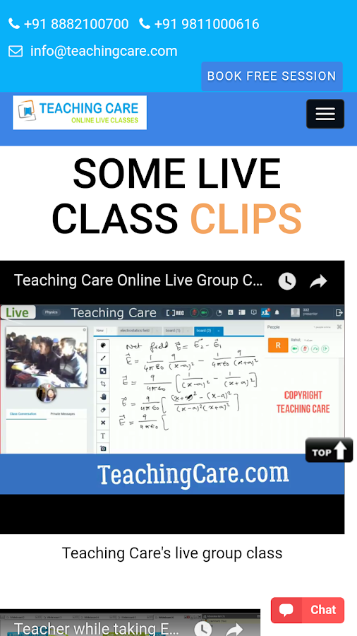 TEACHING CARE- screenshot