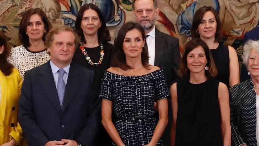 La reina Letizia, en el centro, en la audiencia de este martes. /Casa Real